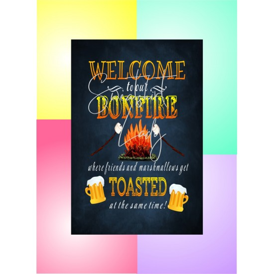Aluminum Signs 12 x 18 Bonfire