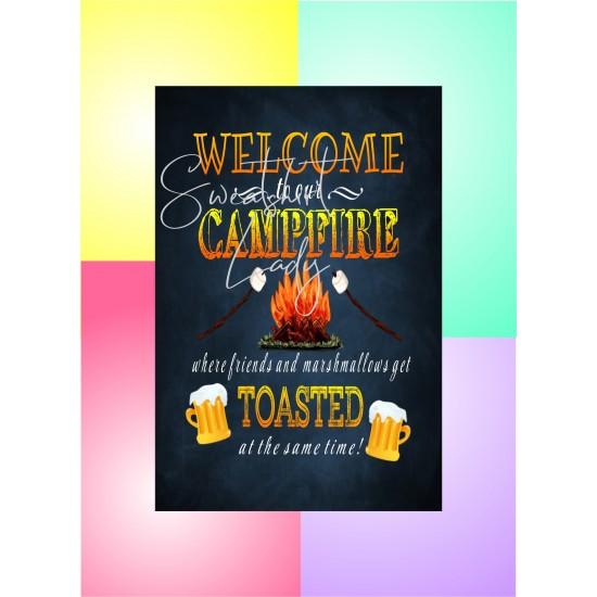 Aluminum Signs 12 x 18 Campfire